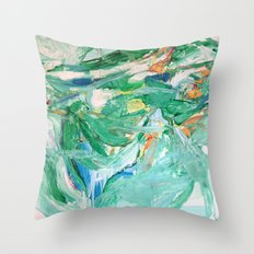 Melody in Green  Throw Pillow