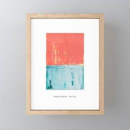 Simon Carter Painting Pink Eva Framed Mini Art Print