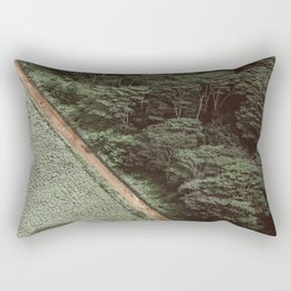 Tropical Amazon Rainforest Textured Trees Aerial Landscape Photo Rectangular Pillow