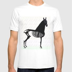 Horse MEDIUM White Mens Fitted Tee