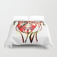 blood Duvet Covers featuring Blood by Janelopez