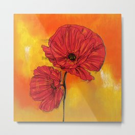 Poppy Variation 7 Metal Print