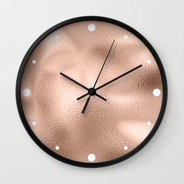 Rose Gold Metallic Texture Wall Clock