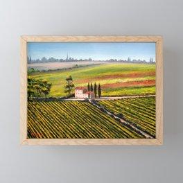 Vineyards In Tuscany Italy Framed Mini Art Print