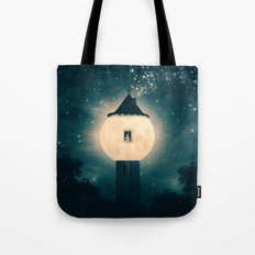 The Moon Tower Tote Bag