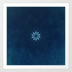 Crystal Flower Mandala Art Print