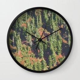 AUTUMN BLUEBERRIES IN OPEN ALPINE FOREST NORTH CASCADE RANGE Wall Clock