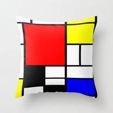 Mondrian Art Throw Pillow