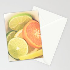Citrus on White Stationery Cards