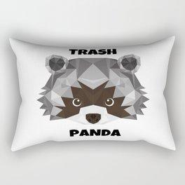 Trash Panda, black and white cartoon cute retro raccoon face Rectangular Pillow