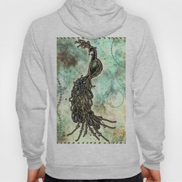 Peacock Chic Couture by The Whimsical Peacock Hoody