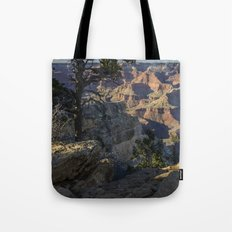 The Grand Canyon and Trees. Tote Bag