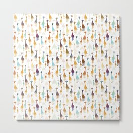 Giraffe of a different Color: white background Metal Print