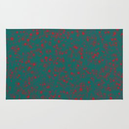 green darkness red spots Rug