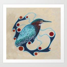 Green Heron Art Print