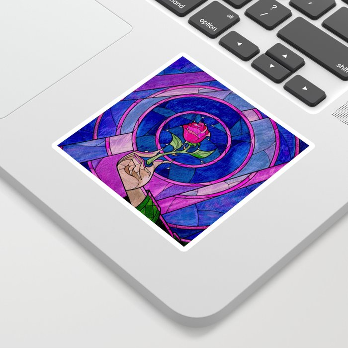 Enchanted Rose Stained Glass Sticker