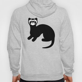 Ferret Animal Silhouette Hoody