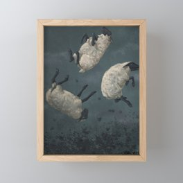 Three Sheeps to the Wind Framed Mini Art Print