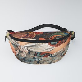 """Alphonse Mucha """"Biscuits Champagne-Lefèvre-Utile"""" Fanny Pack"""