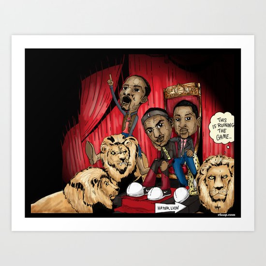 "Miami Heat ""Hater Lion"" Poster Art Print"
