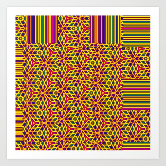 Starburst Pattern Art Print