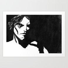 Human eye look beyond Art Print
