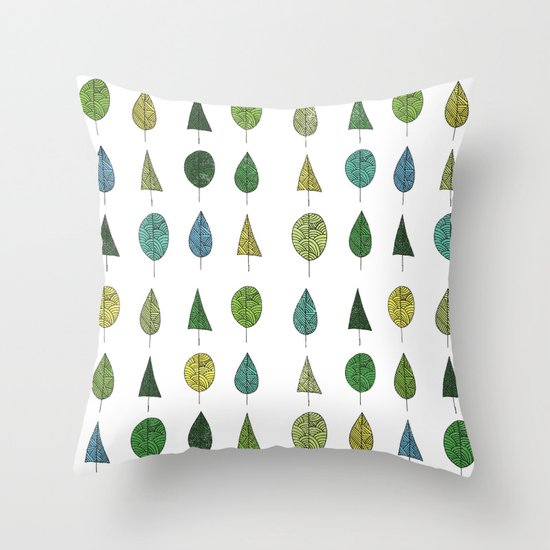 TREES MAKE A FOREST Throw Pillow