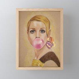 Twiggy Framed Mini Art Print