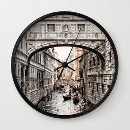 Bridge of Sighs, Venice, Italy (Lighter Version) Wall Clock