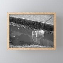 Empty cup Framed Mini Art Print