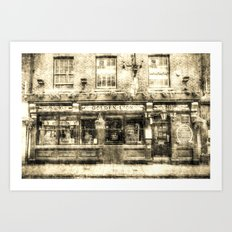 The Golden Lion Pub York Vintage Art Print