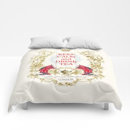 Keep calm and drink tea Comforters