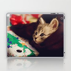christmas kitten Laptop & iPad Skin