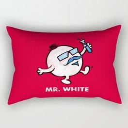 Mr. White Rectangular Pillow