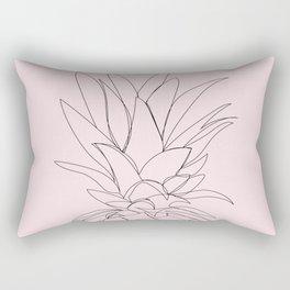 Pineapple line art Rectangular Pillow