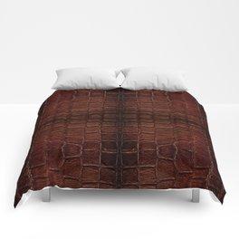 Dark brown snake leather cloth imitation Comforters