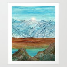 Lines in the mountains XI Art Print