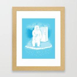 Save the polar bears, make more ice cubes. Framed Art Print