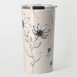 Wildflowers Pattern | Cream Travel Mug