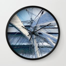 Nautical Sailing Adventure Wall Clock