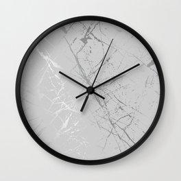Silver Splatter 089 Wall Clock