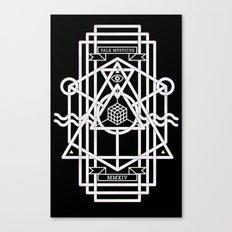 FALX MYSTICUS Black Canvas Print