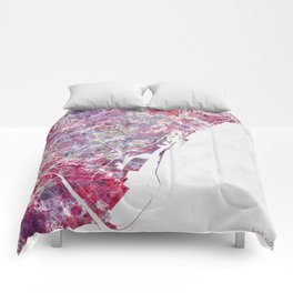 Barcelona map Comforters