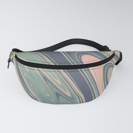Abstract mauve blue pink turquoise marble Fanny Pack