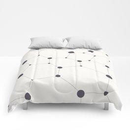 Hexagon grid Comforters
