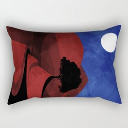 red road Rectangular Pillow