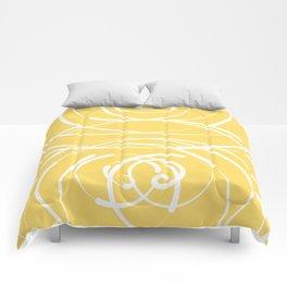 Yellow Flow 2 Comforters