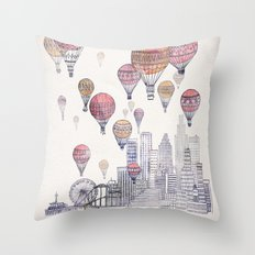 Voyages Over Santa Monica Throw Pillow