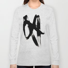 Brushstroke 2 - simple black and white Long Sleeve T-shirt
