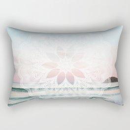 Seashell surf mandala Rectangular Pillow